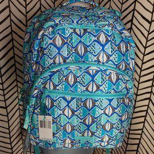 Vera Bradley Go Fish Blue Large essential backpack